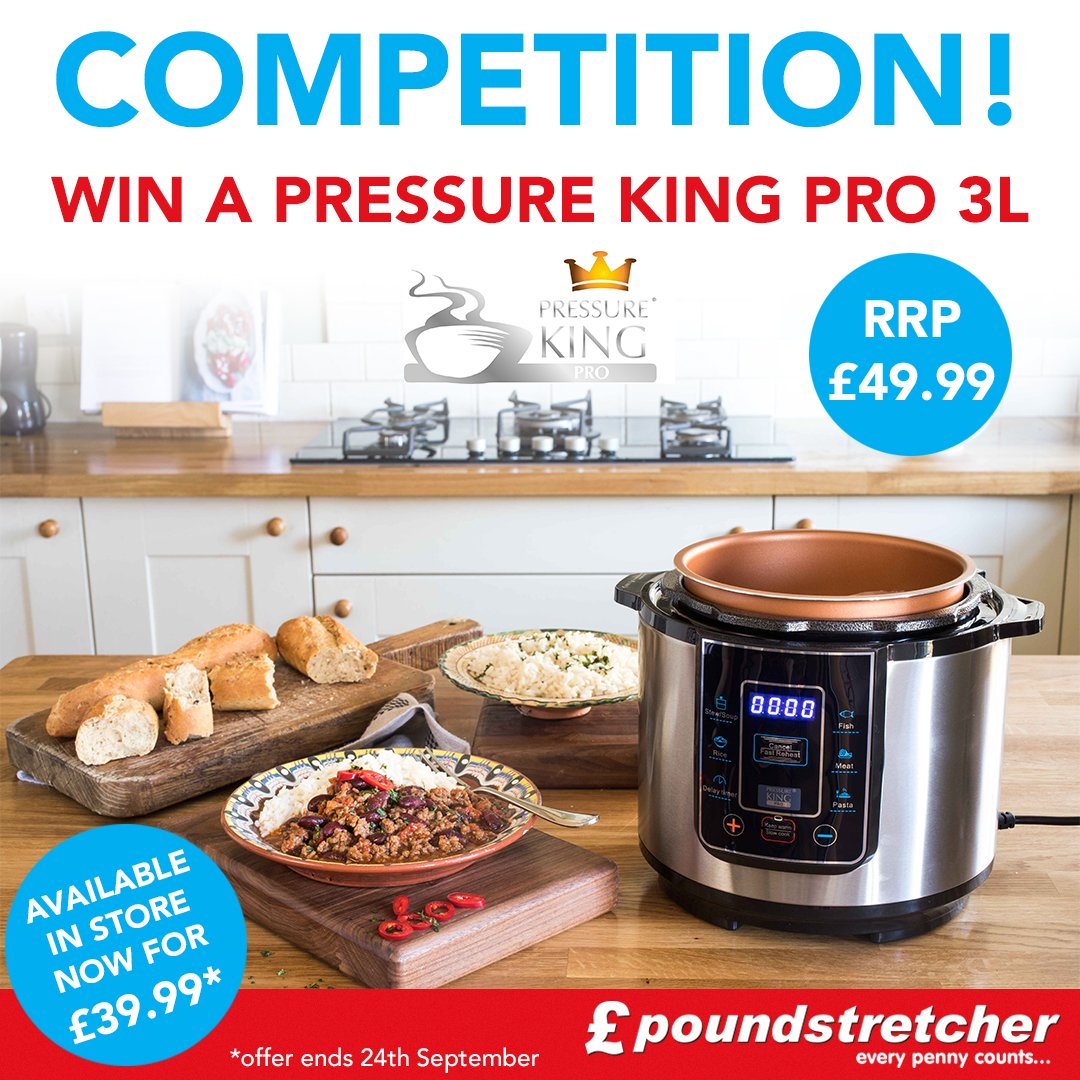 #COMPETITION TIME We&#39;re giving away a Pressure King Pro 3L for FREE!!  RRP is £49.99! To enter this #giveaway, like and comment #win <br>http://pic.twitter.com/FGkU5b2hts