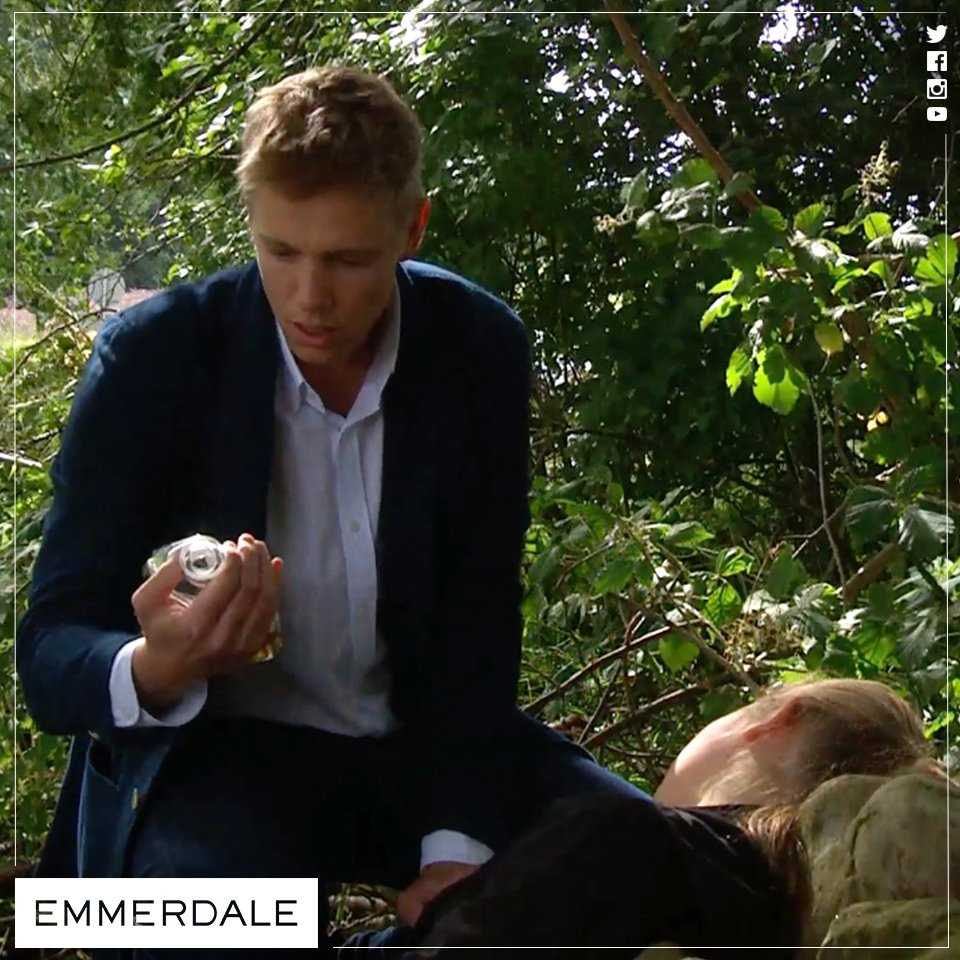 NOOO! Liv's drunk Lawrence's alcohol...that Robert's been spiking! Will she be OK? #Emmerdale
