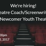 Dramatic? Community minded? We have the job for you! Theatre Coach/Screenwriter, YOCISO Newcomer Youth Theatre Group  https://t.co/hvfKESk0EP
