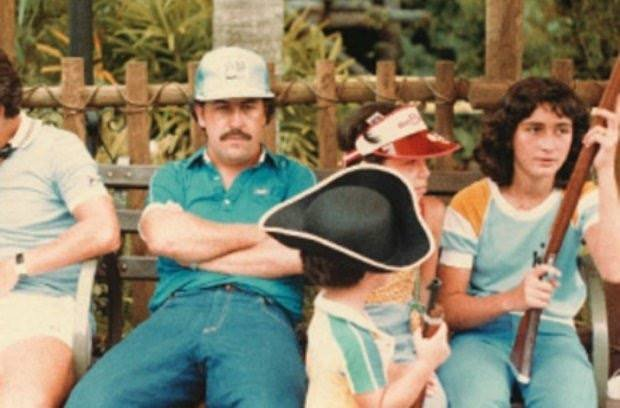 Pablo Escobar and family at Disney World, 1981.