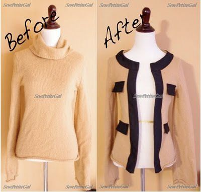Refashion A Turtleneck into a Jacket!  https:// buff.ly/2wbmIe9  &nbsp;   #Refashion #DIYBlog #FashionDIY #ClothesDIY #CreativeBlog #MakeThis #DIY<br>http://pic.twitter.com/DCWfMGBTNR