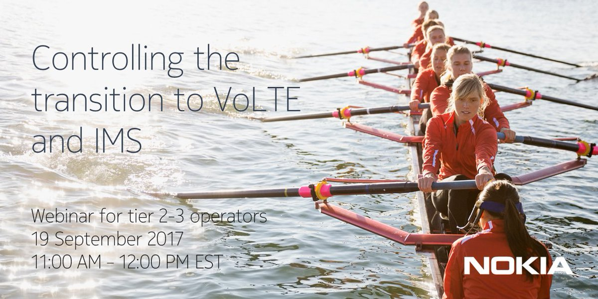 Is your network ready for #VoLTE? Sign up for tomorrow&#39;s webinar with @IHS4Tech on Secure Service Enablement:  http:// nokia.ly/2xfZ3LM  &nbsp;  <br>http://pic.twitter.com/AG9NXLo6IR