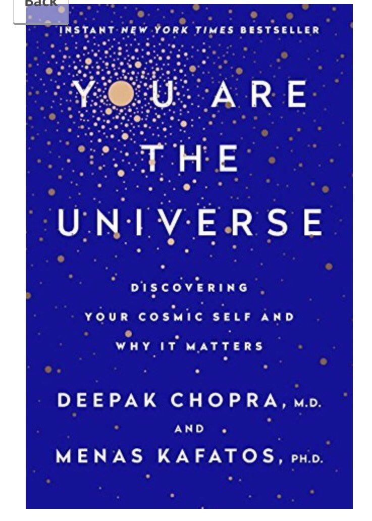1/2 way through @DeepakChopra &quot;you are the universe&quot; combining psychology &amp; quantum physics #chopracenter #deepakchopra <br>http://pic.twitter.com/CIPRH384o1