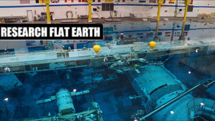 No they couldnt be doin #Fake #SpaceWalks they dont have a Giant #SwimmingPool Oh wait they do for #FakeWalks who knew, #NASAlies #FlatEarth<br>http://pic.twitter.com/oRDHpZxjSw