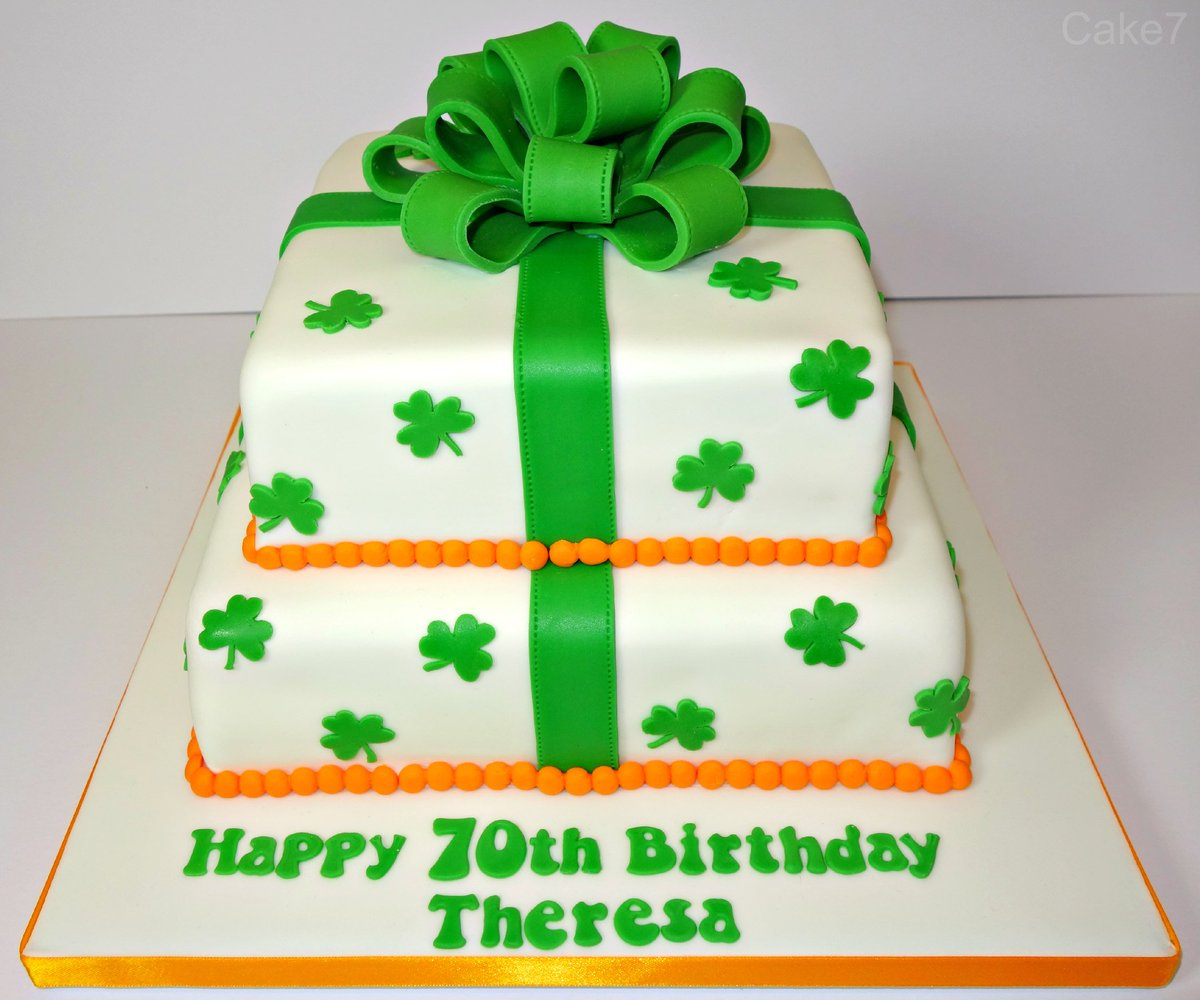 Magnificent Cake7 On Twitter Heres My Shamrock Themed Victoria Sponge Birthday Cards Printable Trancafe Filternl