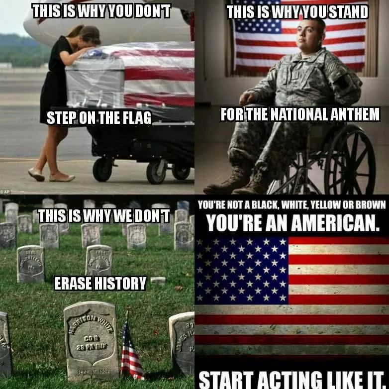 Why You Don T Step On 🇺🇸 Why You Stand For National Anthem