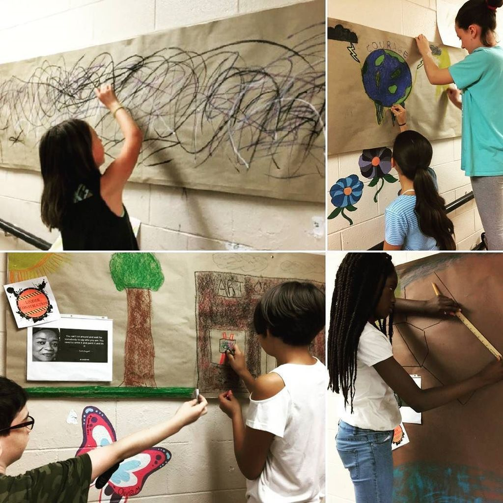 Worcester Arts Magnet students were inspired by @powwowworcester to create murals that illustrate the concept of creativity! #wpslearns #el… <br>http://pic.twitter.com/xnM32Aw94n