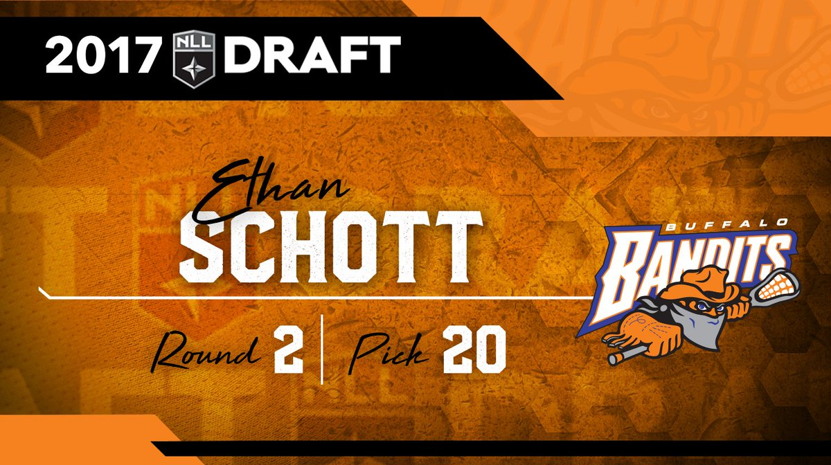 We've selected Ethan Schott with the 20th pick in the #NLLDraft! Welco...