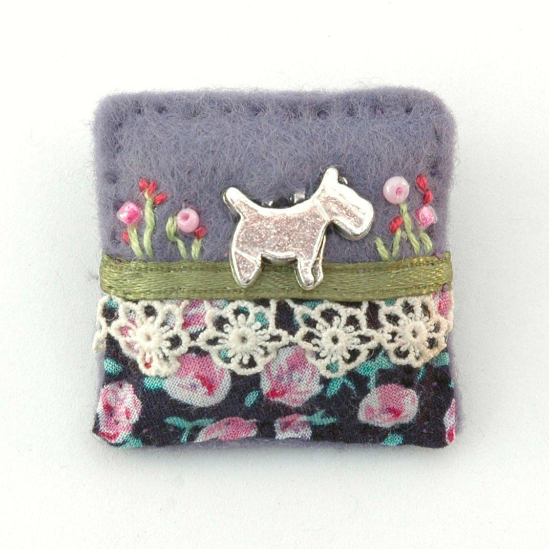 Darling little #dog themed #handmade embellished #felt brooch - new tonight on @Etsy  http:// etsy.me/2jD4nEj  &nbsp;   #terriers #doglovers<br>http://pic.twitter.com/dHipkxGszN