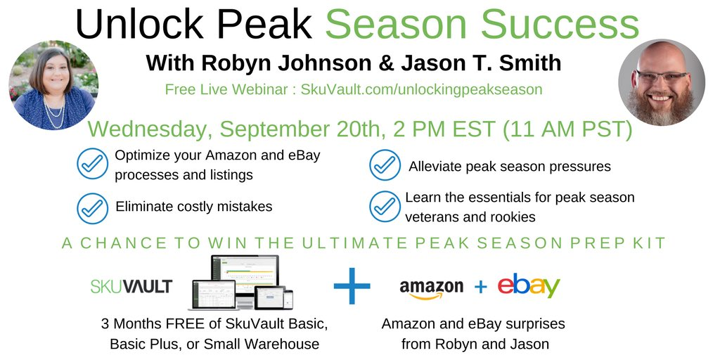 robyn johnson on twitter are you a new amazon or ebay seller going into peak season catch this webinar on 920 httpstcolnehukgomj