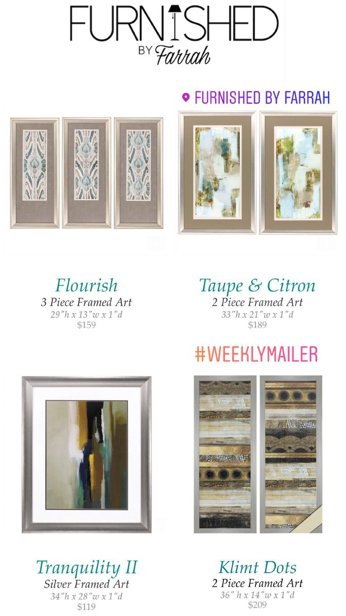 Furnished by farrah on twitter get framed furnishedbf all new framed wall art shipping out the 1st week of october