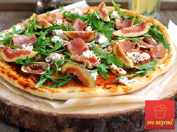 Пицца с сыром и ветчиной рецепт