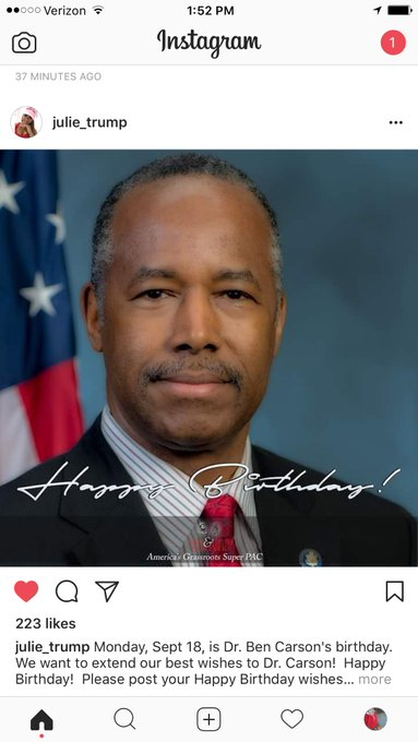 Happy birthday Ben Carson