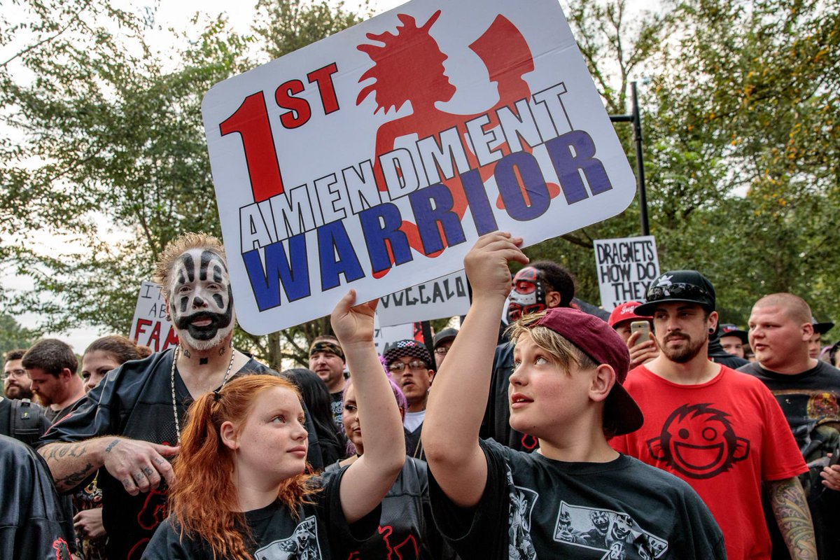 '2017 is weird and bad.' Our report from this weekend's Juggalo and pro-Trump rallies in D.C. https://t.co/8zLmbcJoJT