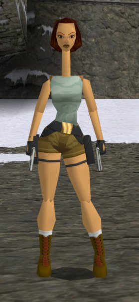 Lara Croft in Tomb Raider 1