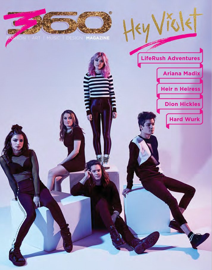 Lookie here .... @HeyViolet graces the cover of #360Magazine