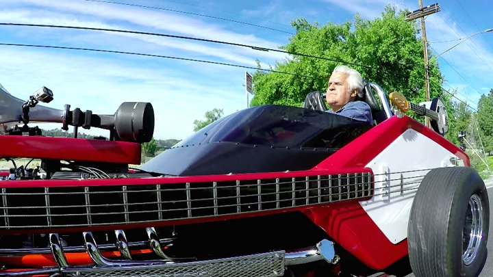 Plug 32 guitars into the 1967 Voxmobile. #MusicMonday #JayLenosGarage...
