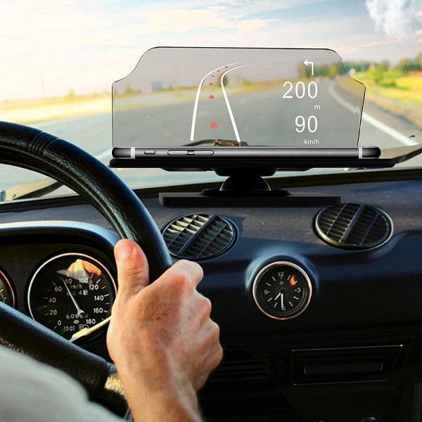 低头看导航不安全,可以试试入门版车用 HUD 抬头显示器,40美元,比直接拿挡风玻璃反射、在挡风玻璃上贴个反射膜高级一点 // SmartGlass™ Heads Up Display for Drivers https://t.co/JMmVpxQMkM https://t.co/7vVo3nUG5n 1