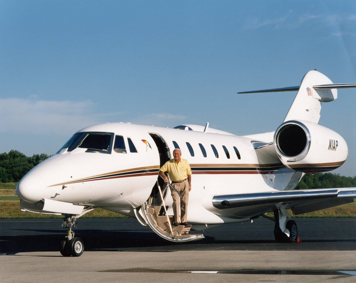 The Golf Pro Arnold Palmer  was one of the first athletes to enjoy the luxury of private flying with his #Cessna #Citation in the 90's. <br>http://pic.twitter.com/egA3kI8wP7