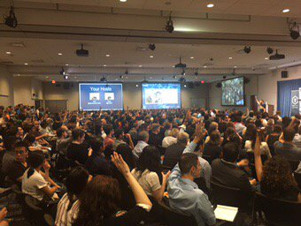 'How many of you were born outside #Canada?' The face of #TechTO is th...