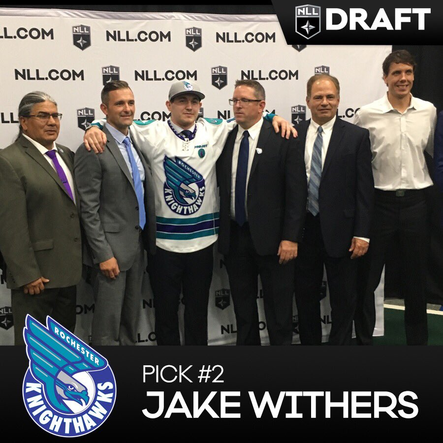 With the 2nd #NLLDraft pick, @RocKnighthawks select @jakewithers4 from...