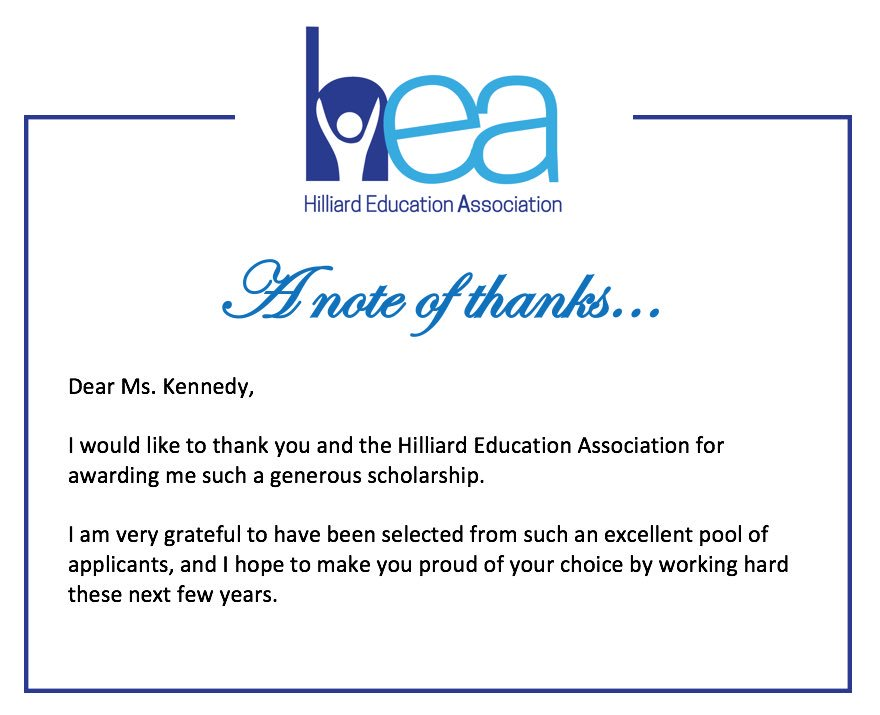 A Wonderful Scholarship Thank You Note For Your Monday Evening!  Https://t.co/XZKcpCaCBY