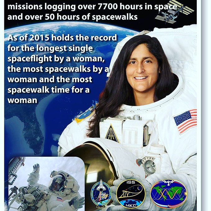Happy birthday to astronaut and India\s daughter, Sunita Williams...