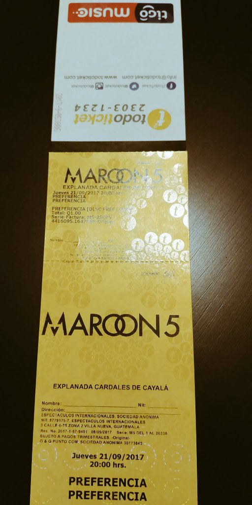 Den RT porque entre mis followers dare 1 pase Preferencia para #Maroon5conTigo #SigueLaMúsica https://t.co/rTdB6VDVSi