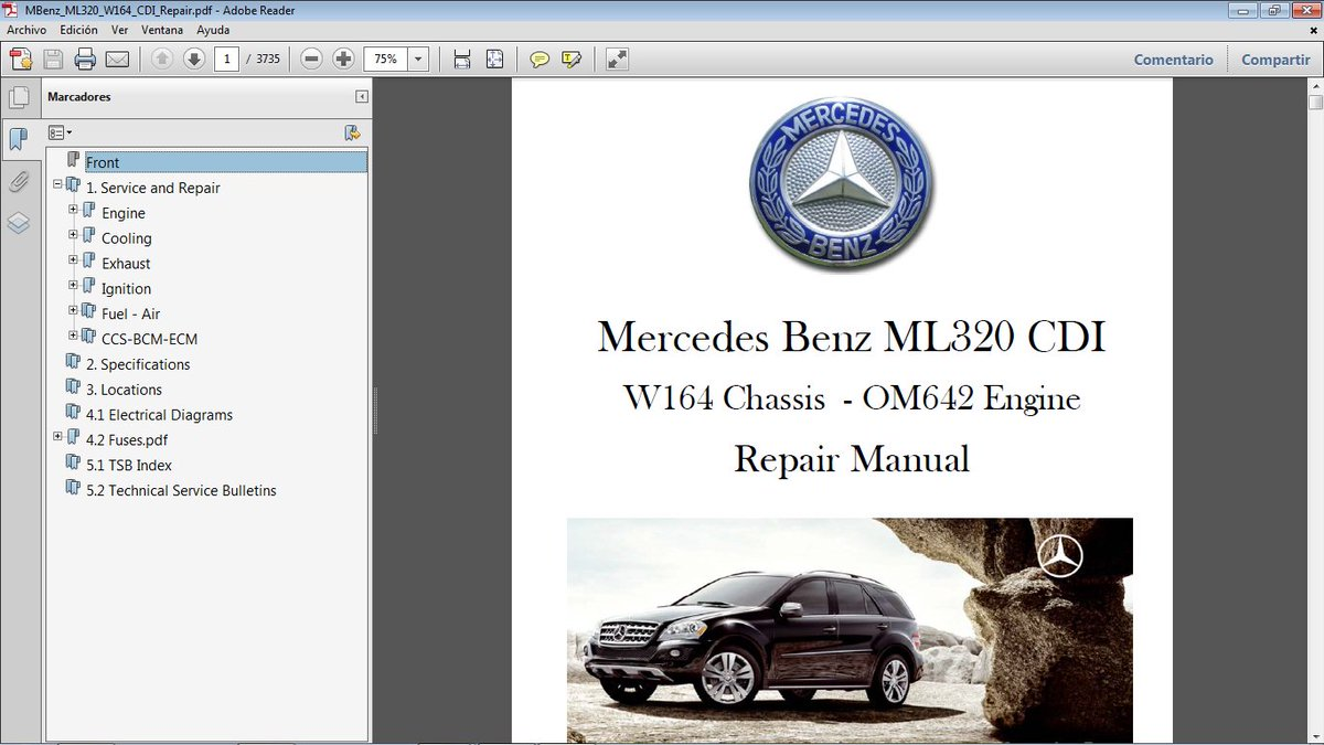 Mercedes Benz Ml320 Manual Pdf 2000 Fuse Box Rodolfo D On Twitter Cdi W164 Motor Om642 Rh Com 1998 Owners