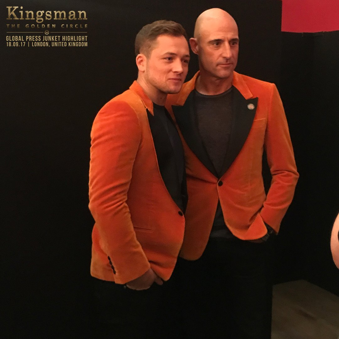 The cast of #Kingsman : The #GoldenCircle  are in attendance at the global #press junket in London. #KingsmanTheGoldenCircleSG #MarkStrong<br>http://pic.twitter.com/lKOuDyUWHz