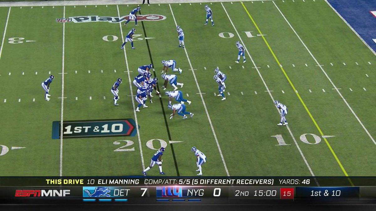 Welcome to the NFL @EvanEngram! First career TD! #DETvsNYG https://t.c...