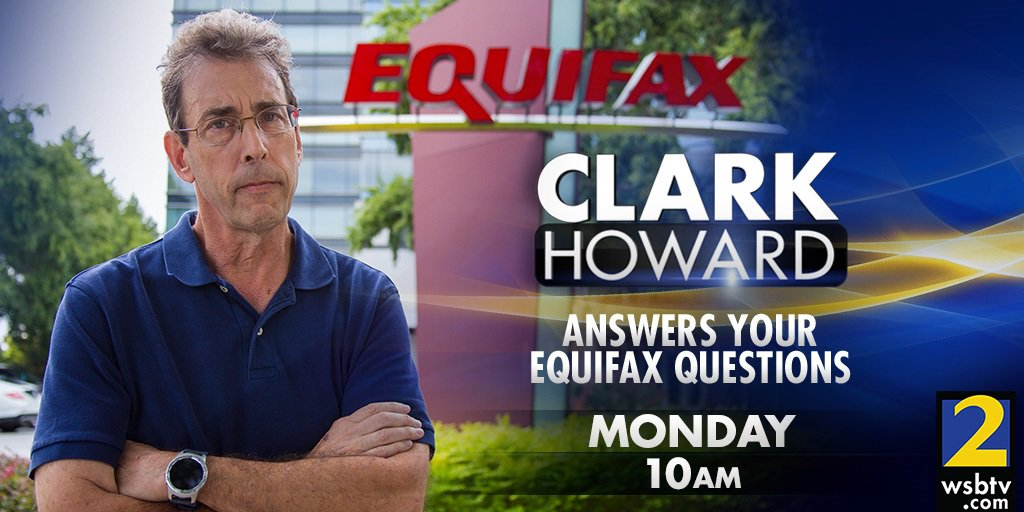As you can see, @ClarkHoward is not happy with the #Equifax data breach... He'll answer YOUR questions, Monday at 10 https://t.co/TN2dpvBVzS
