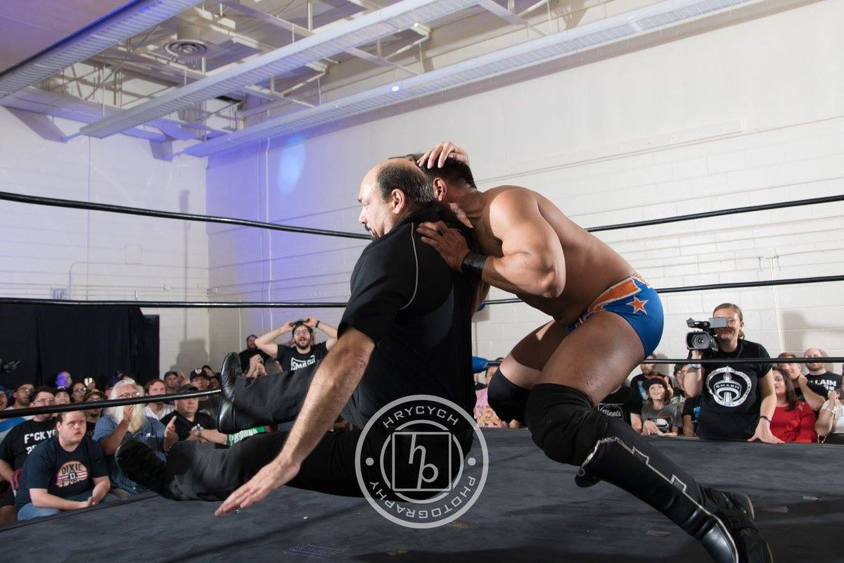 Don&#39;t mess with @jimmykorderas or you&#39;ll get a @steveaustinBSR stunner!!! #wwe #wwf #referee #prowrestling @smashwrestling<br>http://pic.twitter.com/xVXT6qtQMu