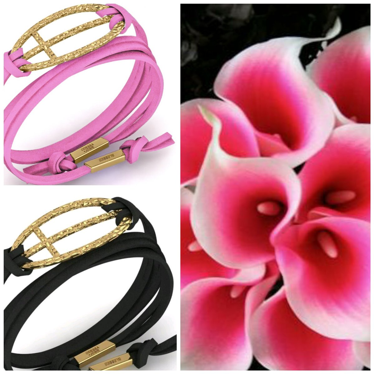The Odessa Josie pink and black gold tone wrap bracelets. Visit our website .  http://www. odessajosiestyle.com  &nbsp;   #fashion #retweet #reply #like<br>http://pic.twitter.com/YmBYGq4Vgv