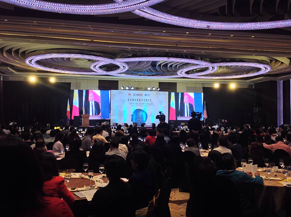 Happening now: @USAID_Manila presents #Synergy2017 #scitech #innovation summit w/ @IPOPHL &amp; @RTI_Intl at Manila Hotel<br>http://pic.twitter.com/xCk1mY5Twk
