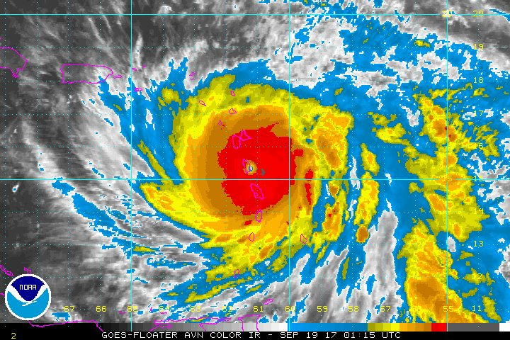 #Eye of cat. 5 #hurricane #MARIA has now enveloped #Dominica. A sight no one ever wants to see. #PrayforDominica #HurricaneMaria #tropics<br>http://pic.twitter.com/YfpWqdLIXP