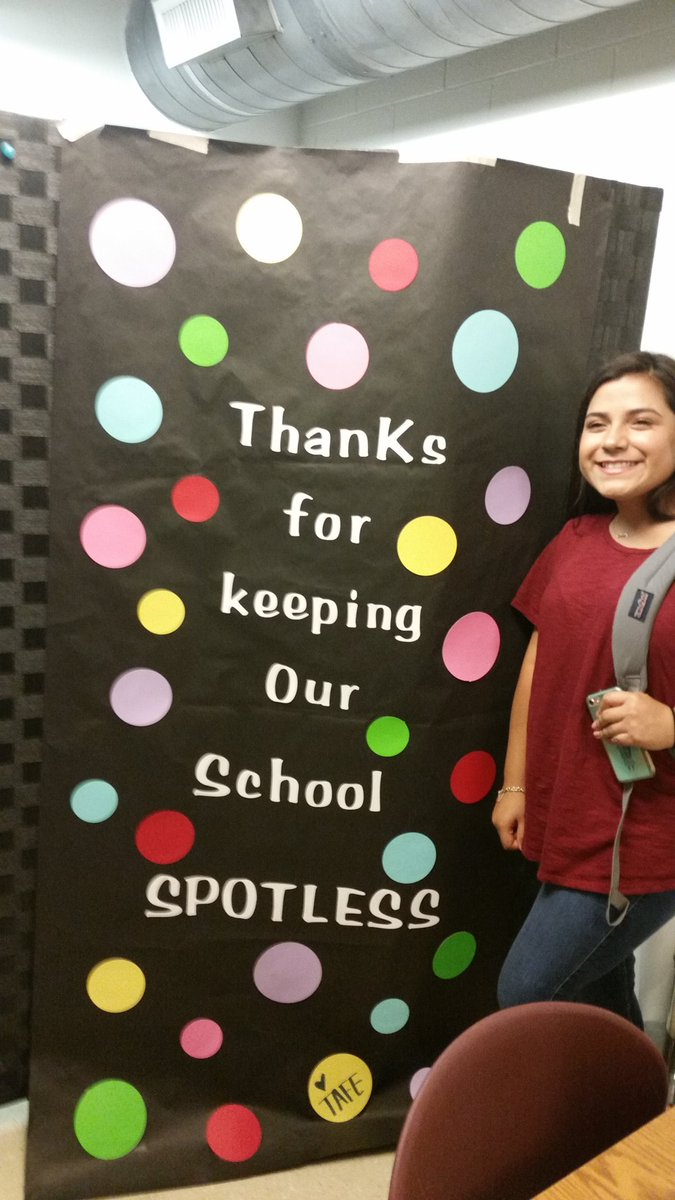 FCCLA and TAFE students treated our custodian to an appreciation gift for all their hard work throughout the year! #service #gobuffs<br>http://pic.twitter.com/d10JTzWwxs