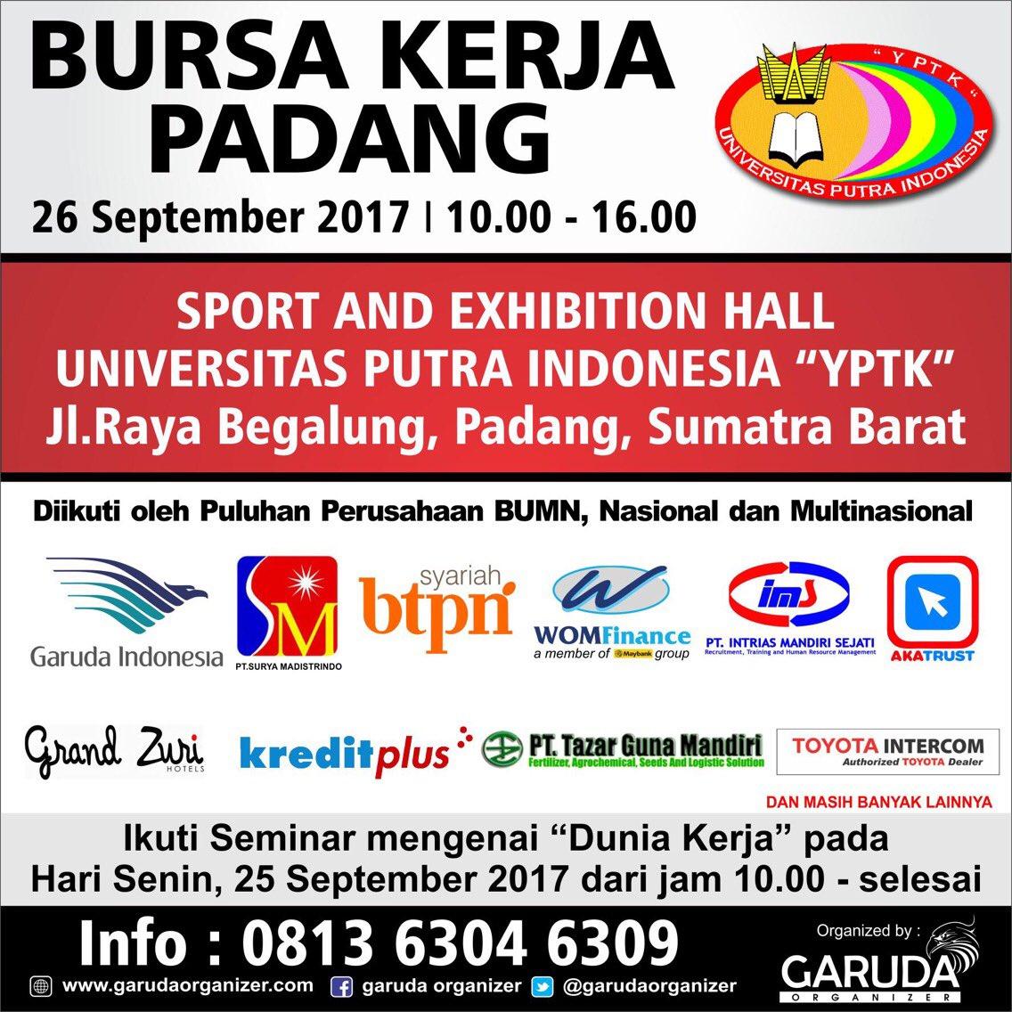 Padang Job Fair September 2017 - Exp HALL UPI YPTK