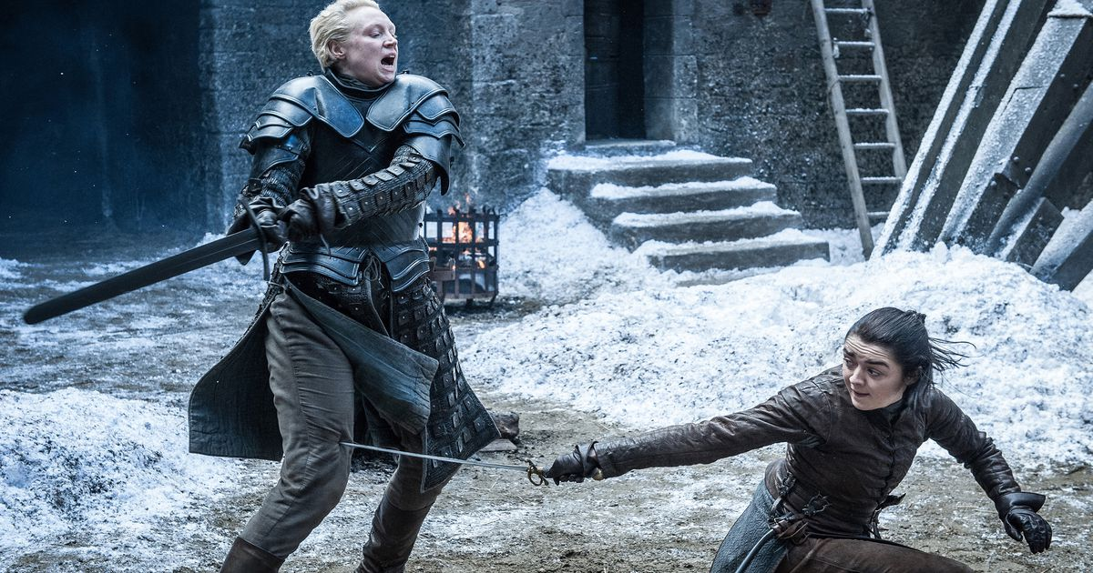 Please enjoy Arya and Brienne training for their \'Game of Thrones\' fight like badasses