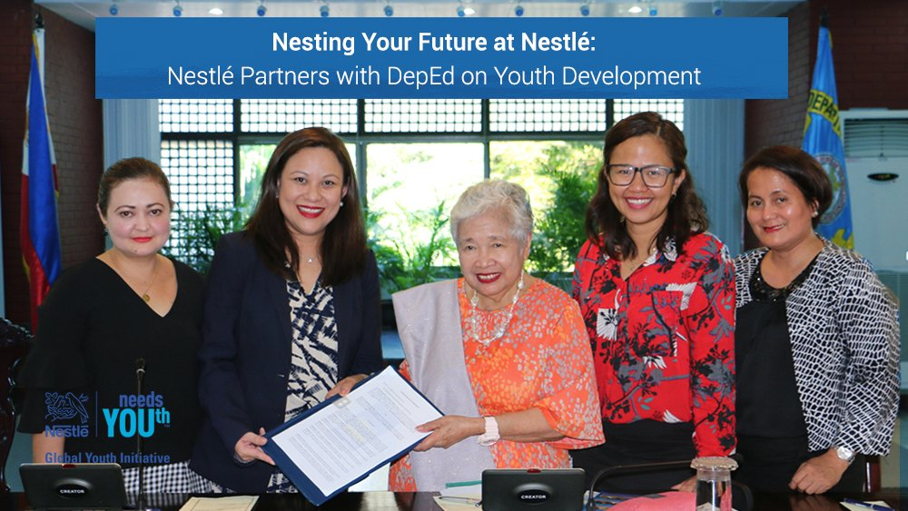 Nestlé has partnered with DepEd (@DepEd_PH) on a new youth development initiative. Read here: https://t.co/VW3fJhubgU  #NestléneedsYOUth https://t.co/oIw3xxHyaz