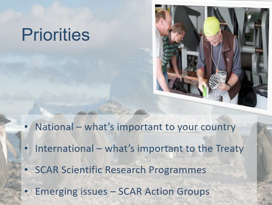 Understanding #priorities (#National, International, @SCAR_Tweets etc) is a valuable tool for #ECRs and all #researchers: A Terauds #APECS17<br>http://pic.twitter.com/xPtRpabqey