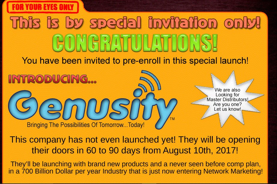 "We're looking for ""PARTNERS""  http:// genusityreview.info  &nbsp;   #beaconmarketing #mobilemarketing <br>http://pic.twitter.com/X2iPLvnpTI"