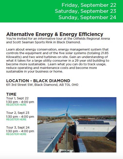 Learn about #EnergyConservation #EnergyManagement #SolarSystems #WindTurbines @BlackDiamond_AB Sept 22-24 #GEDO17  http:// gedo14ab.deassociation.ca/events/alterna tive-energyenergy-efficiency-tour-3/ &nbsp; … <br>http://pic.twitter.com/n2a5MCG5X9