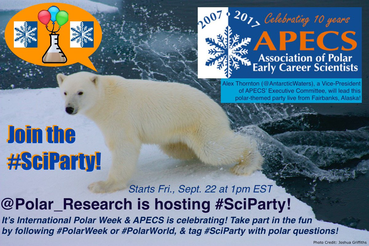 Hey #SciParty! Are you ready to celebrate #PolarWeek? @Polar_Research will host a chat all about our #PolarWorld on Fri, Sept 22 at 1pm EST!<br>http://pic.twitter.com/s8y30iy7PV