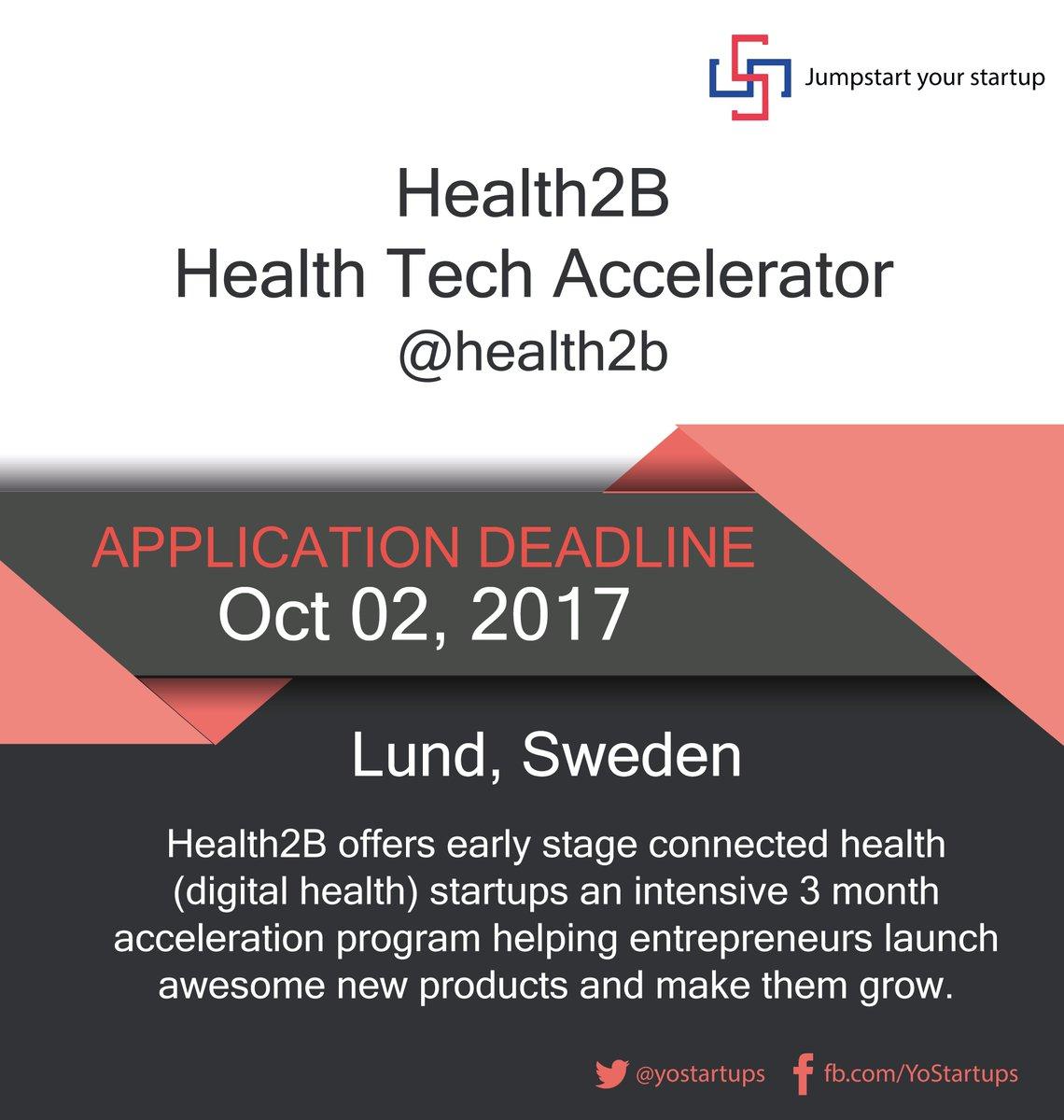Checkout @health2b early stage startup program for #DigitalHealth startups #accelerator  https:// goo.gl/ZJXrJe  &nbsp;  <br>http://pic.twitter.com/djrVw2C3hi