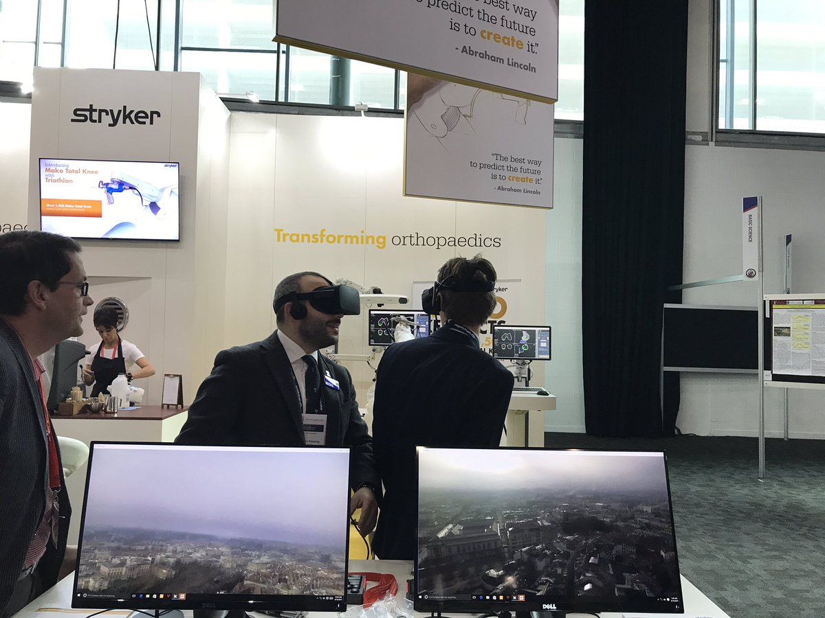 .@Stryker_Jobs exploring the world of #VR and #orthopaedics   #BOAAC #stryker #VirtualReality #surgery<br>http://pic.twitter.com/vqkrrtUNoY
