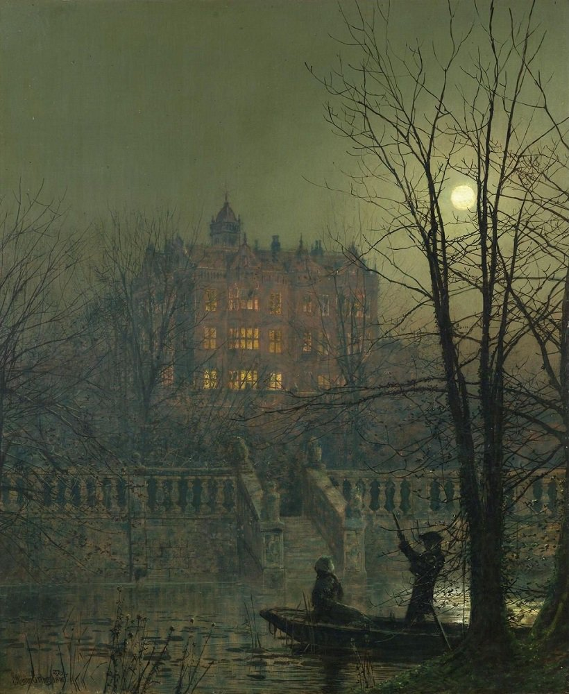 Under The Moonbeams - John Atkinson Grimshaw #moonlight #painting<br>http://pic.twitter.com/ZWOrKmJIFP