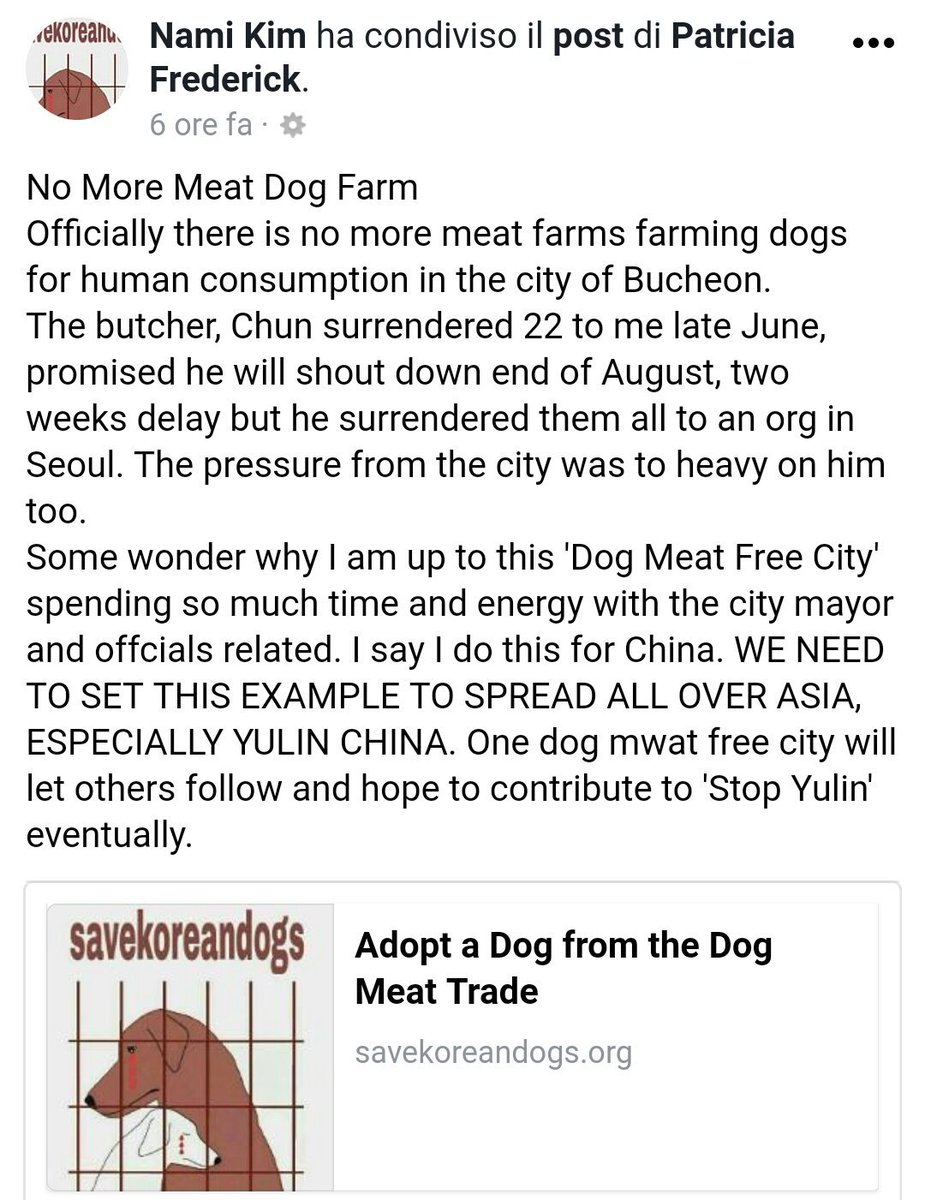 #Bucheon no more #DogMeat #Farms. First #DogMeat free City in #SouthKorea. An example for #Yulin #China, whole #Asia  https:// m.facebook.com/story.php?stor y_fbid=959987087484685&amp;id=425073497642716 &nbsp; … <br>http://pic.twitter.com/DeqabJEt3K
