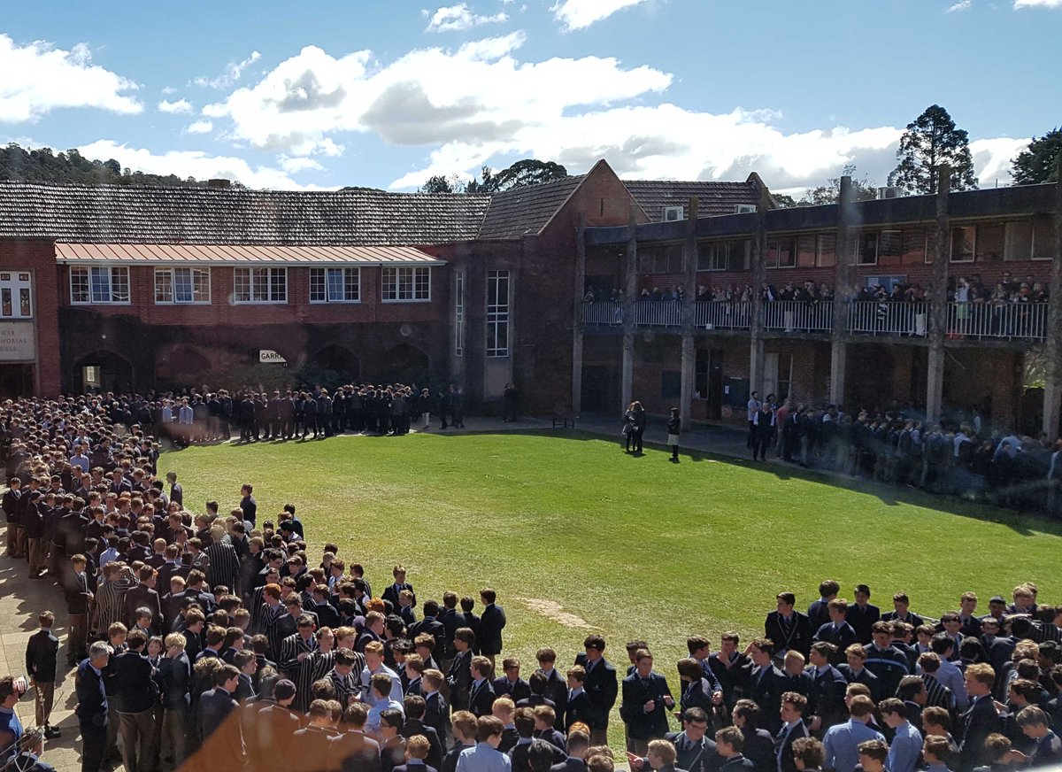 It's an emotional day as our Yr12s 'walk out' of CGS for the last time as students, supported by our community. Good luck on your exams!