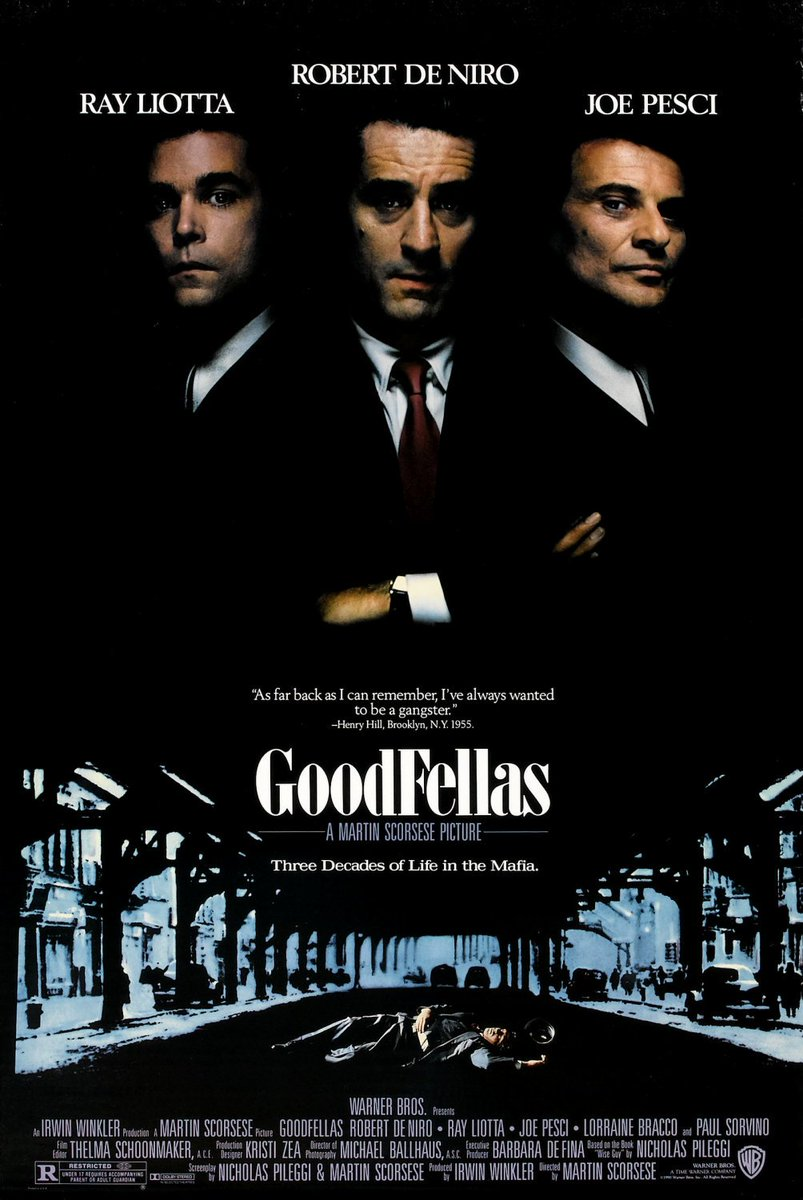 On this day in 1990, 'Goodfellas', starring #RobertDeNiro, #JoePesci &amp; #RayLiotta, was released in US cinemas. #90s <br>http://pic.twitter.com/om4U2m9G09